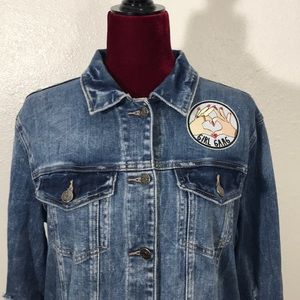 Cello Girl Gang NOT YOUR BAE Denim Jacket sz L
